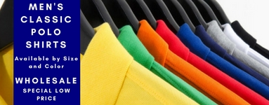 Wholesale t shirts and wholesale classic polo shirts available for wholesale when you buy in bulk.
