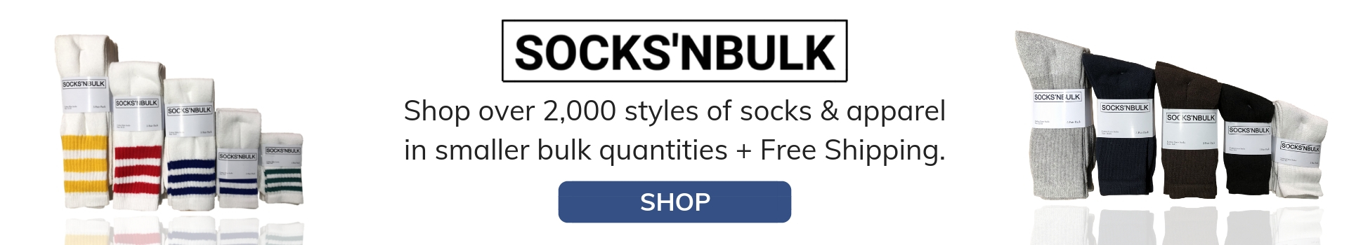 Bulk socks, and wholesale socks available at All Time Trading.