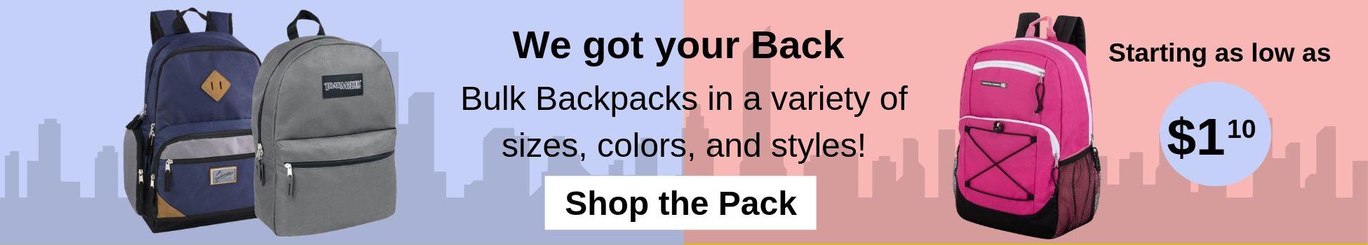 Wholesale Backpacks, bulk backpacks