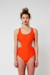 Yacht & Smith Womens Fashion Color Reversible One Piece Bathing Suit Size X Large - Womens Swimwear