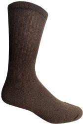 24 Units of Yacht & Smith Men's Cotton Terry Crew Socks Size 10-13 Brown Bulk Pack - Mens Crew Socks