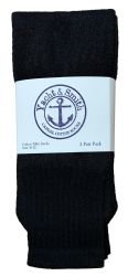 36 Units of Yacht & Smith Women's Cotton Tube Socks, Referee Style, Size 9-15 Solid Black 22inch - Women's Tube Sock