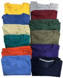 12 Units of Mens Cotton Crew Neck Short Sleeve T-Shirts Mix Colors XX-Large - Mens T-Shirts