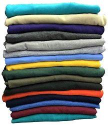 120 Units of Mens Cotton Crew Neck Short Sleeve T-Shirts Mix Colors, XX-Large - Mens T-Shirts