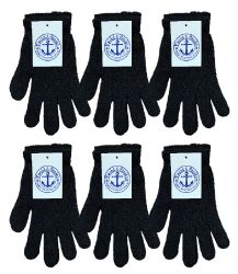 6 Units of Yacht & Smith Unisex Black Magic Gloves - Knitted Stretch Gloves