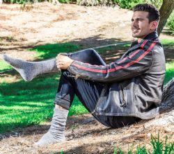 4 Units of Mens Merino Wool Socks, Twisted Yarn, Comfort Knit, Moisture Wicking Wool - Mens Thermal Sock