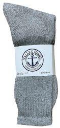 60 Units of Yacht & Smith Kids Premium Cotton Crew Socks Gray Size 4-6 - Boys Crew Sock