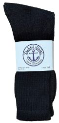60 Units of Yacht & Smith Men's King Size Cotton Crew Socks Black Size 13-16 - Big And Tall Mens Crew Socks