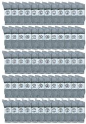 60 Units of Yacht & Smith Men's King Size Cotton Crew Socks Gray Size 13-16 - Big And Tall Mens Crew Socks