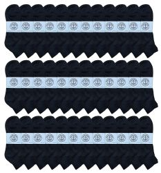 36 Units of Yacht & Smith Men's King Size Cotton Sport Ankle Socks Size 13-16 Solid Black - Big And Tall Mens Ankle Socks