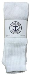 24 Units of Yacht & Smith Men's 30 Inch Long Basketball Socks, White Cotton Terry Tube Socks Size 10-13 - Mens Tube Sock