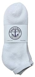 24 Units of Yacht & Smith Men's Cotton No Show Sport Socks King Size 13-16 White - Big And Tall Mens Ankle Socks