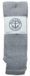 24 Units of Yacht & Smith Men's Cotton 28 Inch Tube Socks, Referee Style, Size 10-13 Solid Gray - Mens Tube Sock