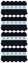 24 Units of Yacht & Smith Men's No Show Ankle Socks, Cotton. Size 10-13 Black - Mens Ankle Sock