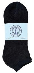36 Units of Yacht & Smith Men's No Show Ankle Socks, Premium Quality Cotton. Size 10-13 Black - Mens Ankle Sock