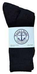 12 Units of Yacht & Smith Women's Premium Cotton Crew Socks Black Size 9-11 - Womens Crew Sock