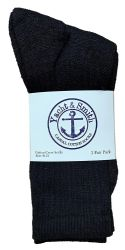 72 Units of Yacht & Smith Women's Premium Cotton Crew Socks Black Size 9-11 - Womens Crew Sock