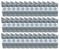 36 Units of Yacht & Smith Women's Premium Cotton Crew Socks Gray Size 9-11 - Womens Crew Sock
