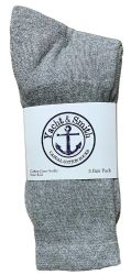 24 Units of Yacht & Smith Women's Cotton Crew Socks Gray Size 9-11 - Womens Crew Sock