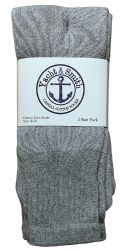 36 Units of Yacht & Smith Women's Cotton Tube Socks, Referee Style, Size 9-15 Solid Gray - Women's Tube Sock