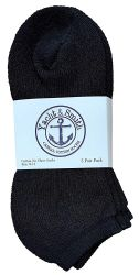 240 Units of Yacht & Smith Women's No-Show Cotton Ankle Socks Size 9-11 Black - Womens Ankle Sock