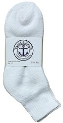 24 Units of Yacht & Smith Women's Premium Cotton Ankle Socks White Size 9-11 - Womens Ankle Sock