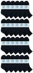 24 Units of Yacht & Smith Women's Premium Cotton Ankle Socks Black Size 9-11 - Womens Ankle Sock