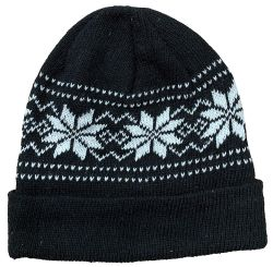 144 Units of Yacht & Smith Unisex Snowflake Fleece Lined Winter Beanie 6 Colors - Winter Beanie Hats