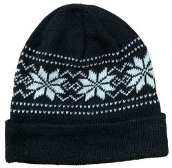 36 Units of Yacht & Smith Unisex Snowflake Fleece Lined Winter Beanie Hat - Winter Beanie Hats