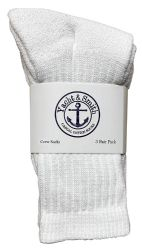 240 Units of Yacht & Smith Kids Premium Cotton Crew Socks White Size 4-6 - Girls Crew Socks