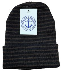 12 Units of Yacht & Smith Mens Womens Warm Winter Hats in Assorted Colors, Mens Womens Unisex (12 Pack Stripe) - Winter Beanie Hats