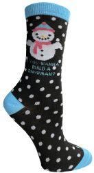 240 Units of Yacht & Smith Printed Holiday Christmas Socks, Sock Size 9-11 - Womens Crew Sock