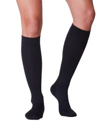 6 Units of Yacht & Smith Women's Knee High Socks, Solid Black 90% Cotton Size 9-11 - Womens Knee Highs
