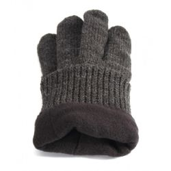 36 Units of Men's Super Thick Knitted Winter Gloves With Fleece Lining - Winter Gloves