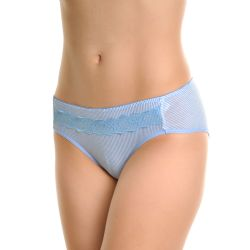 72 Units of Angelina Cotton Hiphuggers Panties With Pinstripe Print Design - Womens Panties & Underwear