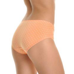 72 Units of Angelina Cotton Bikini Panties With Polka Dot Print - Womens Panties & Underwear