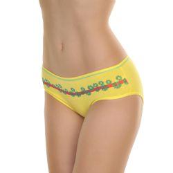 72 Units of Angelina Cotton Cheeky Bikini Panties With Floral Print And Stripe - Womens Panties & Underwear