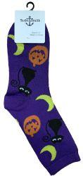 12 Units of Yacht & Smith Womens Halloween Crew Socks , Size 9-11 - Womens Crew Sock