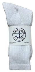 240 Units of Yacht & Smith Men's Cotton Crew Socks White Size 10-13 - Mens Crew Socks