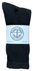 36 Units of Yacht & Smith Mens Athletic Crew Socks , Soft Cotton, Terry Cushion, Sock Size 10-13 Black - Mens Crew Socks