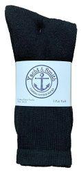 240 Units of Yacht & Smith Men's Cotton Crew Socks Black Size 10-13 - Mens Crew Socks