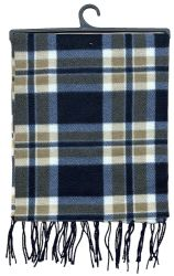 144 Units of Yacht & Smith Unisex Warm Winter Plaid Fleece Scarfs Assorted Colors Size 60x12 - Winter Scarves