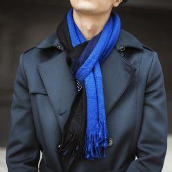 15 Units of Yacht&smith 3 Pack Mens Designer Winter Scarves, Stripe Patterned Neck Scarf Price Per 3 - Winter Scarves