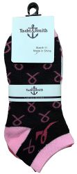 60 Units of Yacht & Smith Pink Ribbon Breast Cancer Awareness Ankle Socks For Women - Breast Cancer Awareness Socks