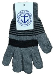 60 Units of Yacht & Smith Wholesale Bulk Winter Thermal Gloves - Knitted Stretch Gloves