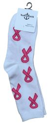 60 Units of Pink Ribbon Breast Cancer Awareness Crew Socks for Women BULK PACK - Breast Cancer Awareness Socks