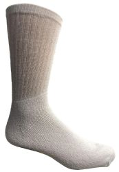 24 Units of Yacht & Smith Men's King Size Premium Cotton Crew Socks White Size 13-16 - Big And Tall Mens Crew Socks