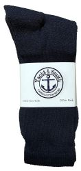 36 Units of Yacht & Smith Mens Wholesale Bulk Cotton Socks, Athletic Sport Socks Shoe Size 8-12 (Navy, 36) - Mens Crew Socks