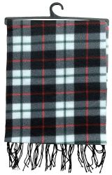 72 Units of Yacht & Smith Unisex Warm Winter Plaid Fleece Scarfs Assorted Colors Size 60x12 - Winter Scarves