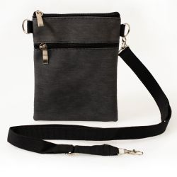 24 Units of 7 Inch Crossbody Bags 3 In 1 With 2 Zippered Pockets In 4 Assorted Colors - Shoulder Bags & Messenger Bags